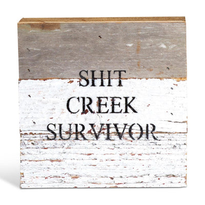Shit Creek Survivor Plaque