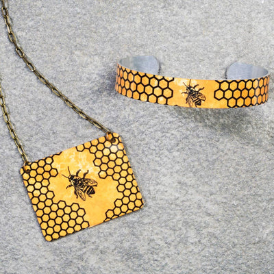 Honeybee & Honeycomb Jewelry