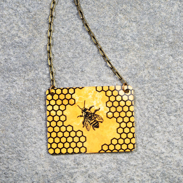 Honeybee & Honeycomb Necklace