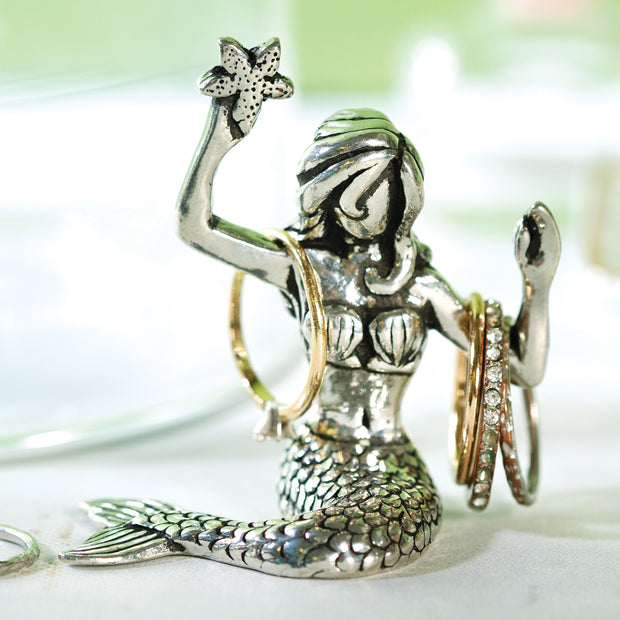 Sitting Mermaid Ring Holder