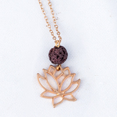 Lotus Essential Oil Necklace
