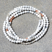 Howlite Stone Wrap Bracelet/Necklace
