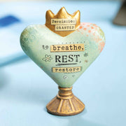 Permission Granted to Breathe Heart Sculpture