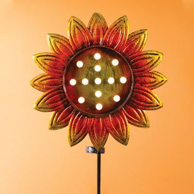Sunflower Solar Stake