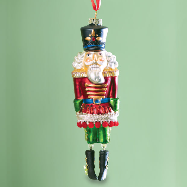 Nutcracker Glass Ornament
