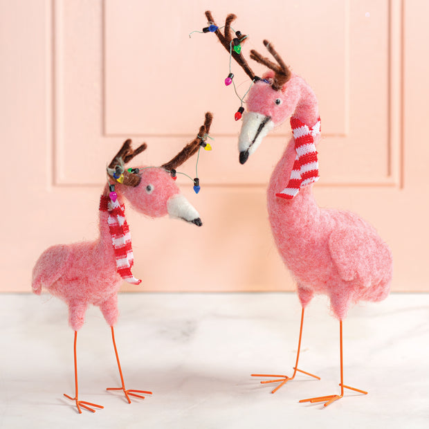 Flamingo Reindeer Set Of 2
