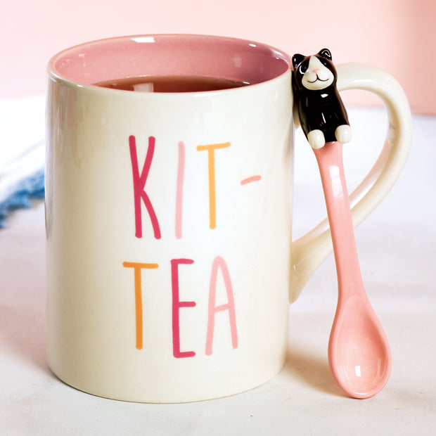 Kit-Tea Mug with Spoon