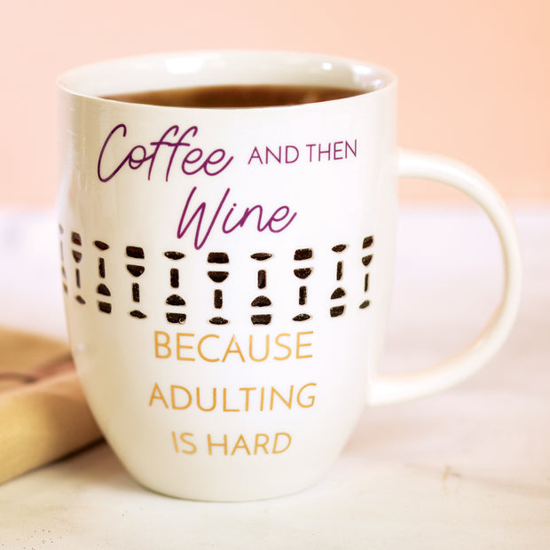Coffee and Then Wine Pierced Cup