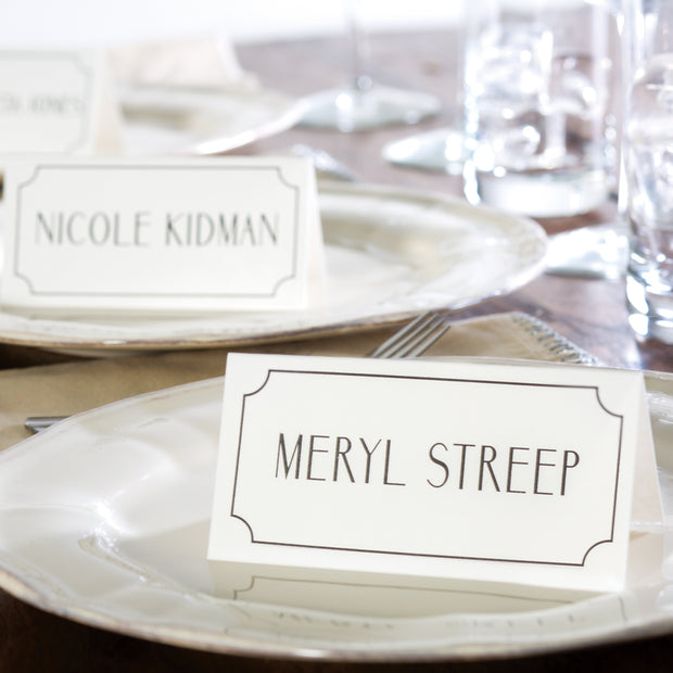 Actors & Actresses Place Cards