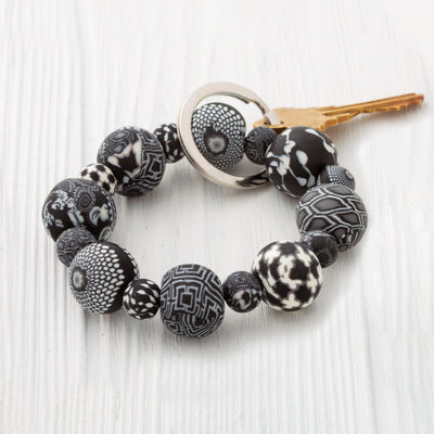 Black and White Wrist Keychain