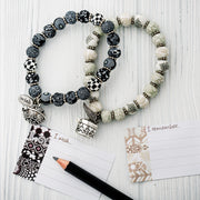 Black and White Wish Bracelet