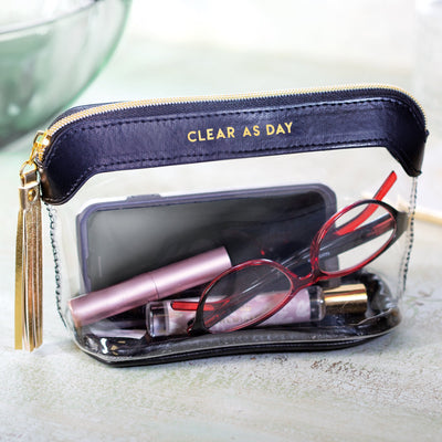 Clear as Day Travel Pouch
