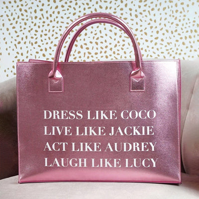 Dress Like Coco Pink Tote