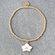 Blooming White Orchid Bracelet
