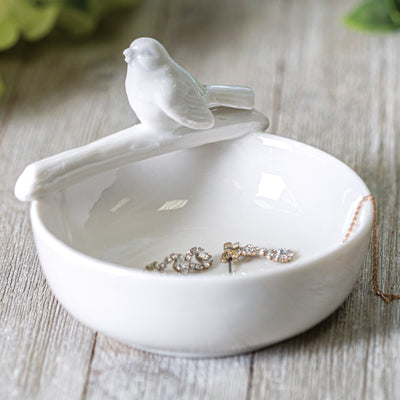 Ceramic Bowl With Bird