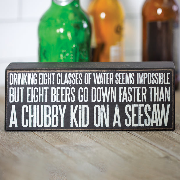 Eight Glasses Box Sign