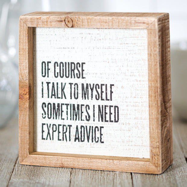 Expert Advice Sign