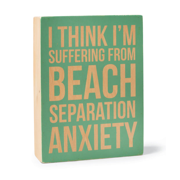 Beach Separation Anxiety Plaque