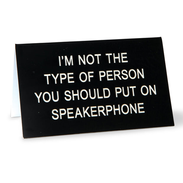 Speaker Phone Sign