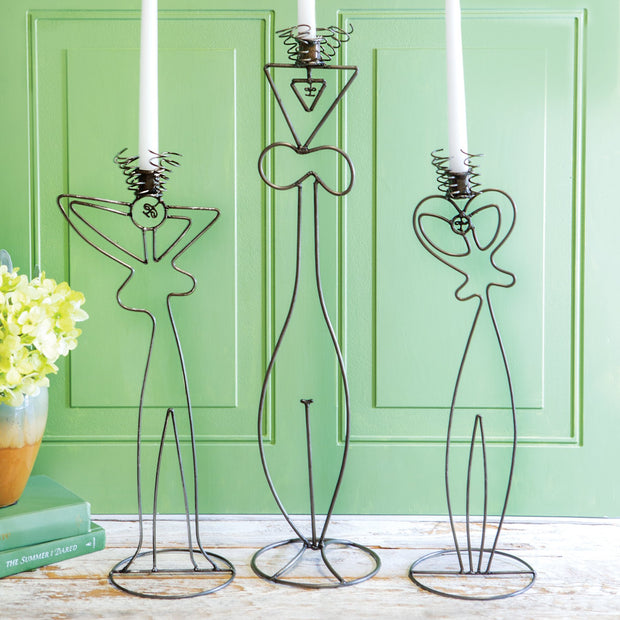 Wire Abstract Ladies Candle Towers