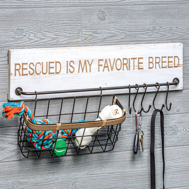 Rescued is My Favorite Breed Rack