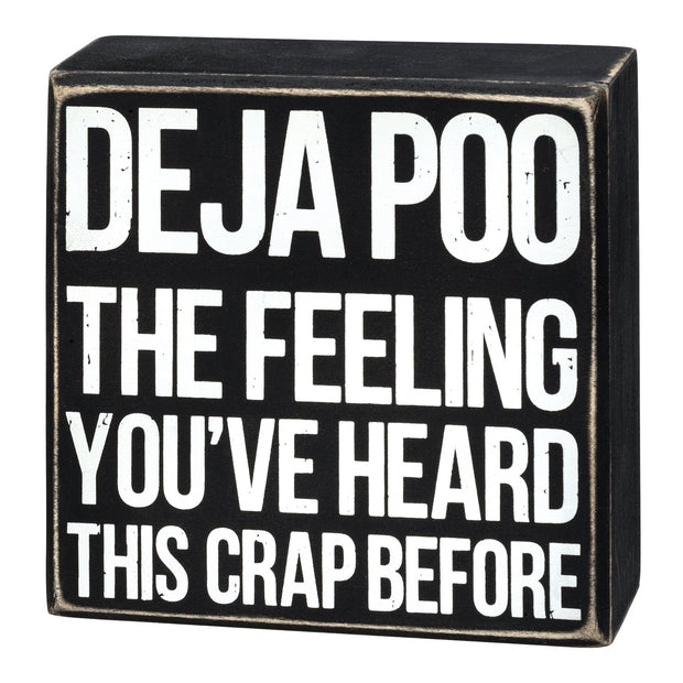Deja Poo Box Sign