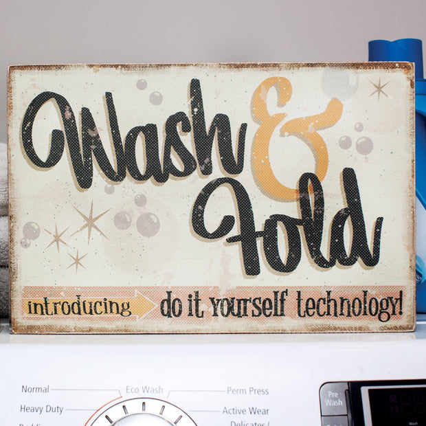 Wash and Fold Box Sign