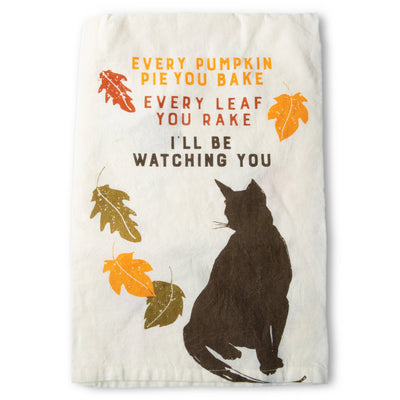 Watching You Cat Towel