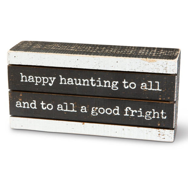 Happy Haunting Box Sign