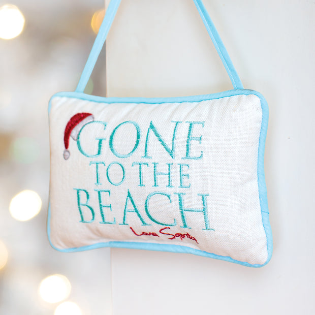 Gone To The Beach Door Pillow