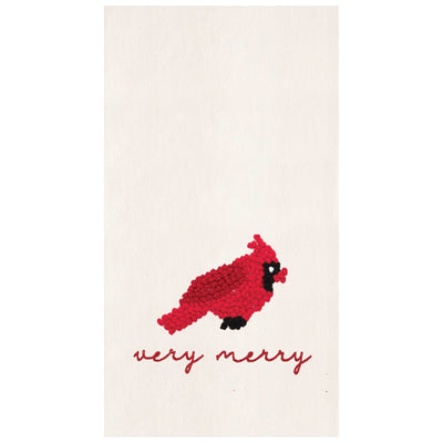 Very Merry Cardinal Towel