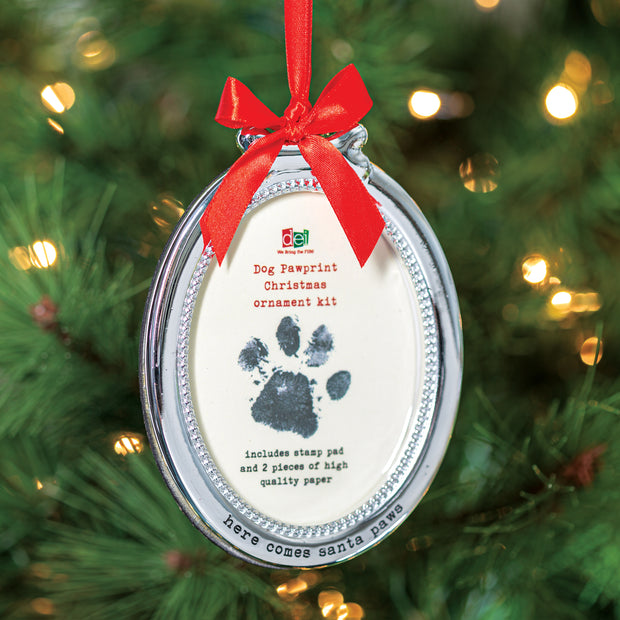 Pawprint Frame Ornament
