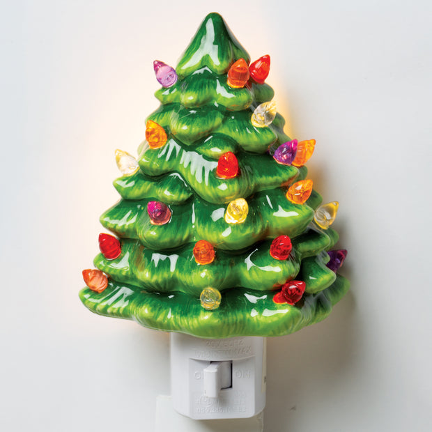 Vintage Christmas Tree Night Light