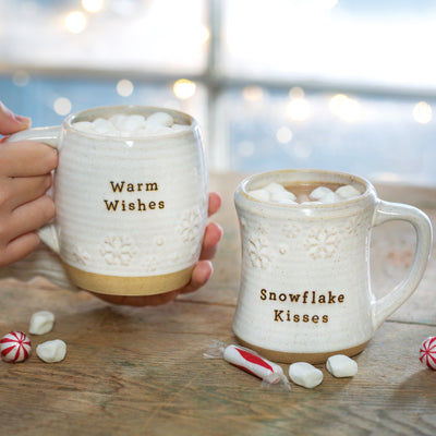 Snowflake Kisses Cuddle Mugs