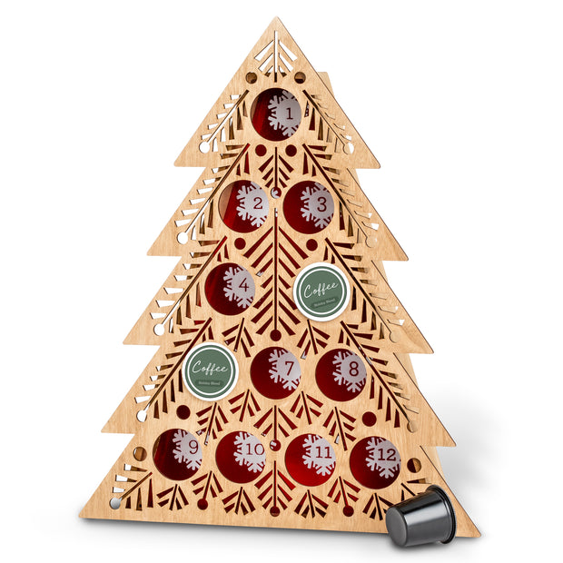 Lit Coffee Pod Countdown Tree