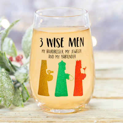 3 Wise Men Wine Glass