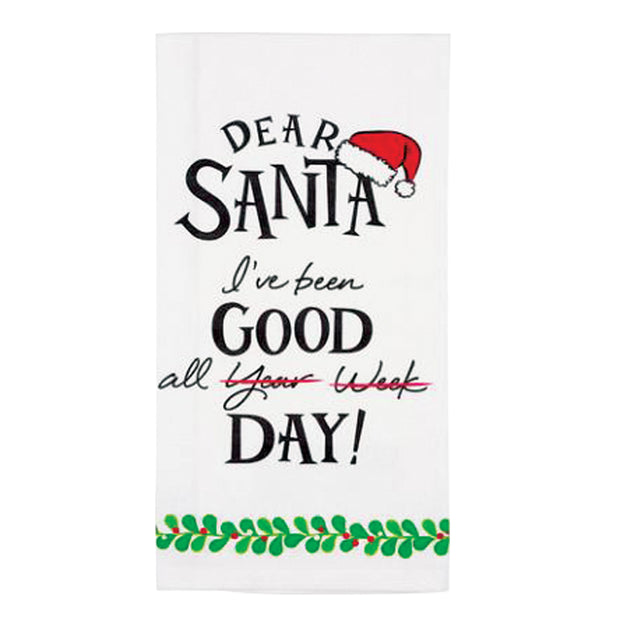 Dear Santa Good Bar Towel