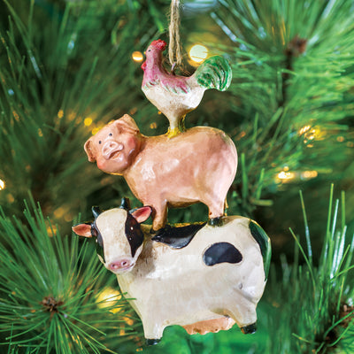 Stacked Animals Ornament