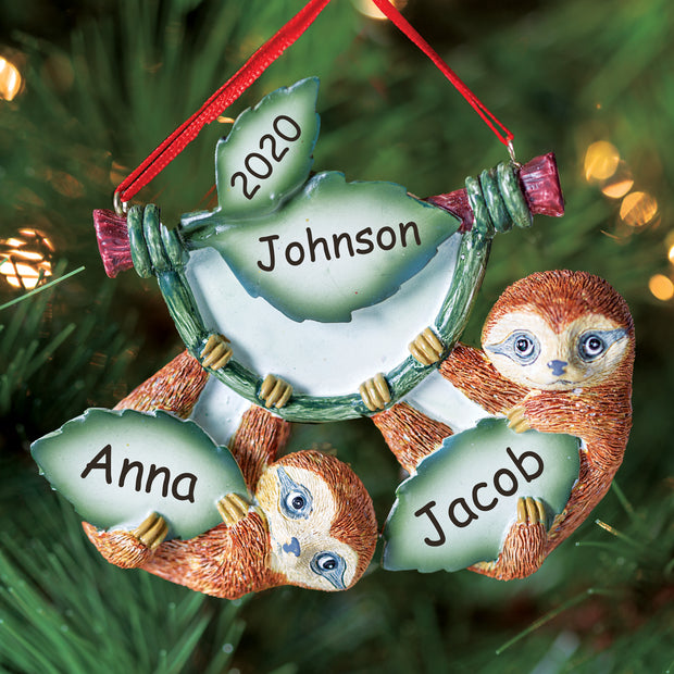 Sloth Family Of Two Ornament
