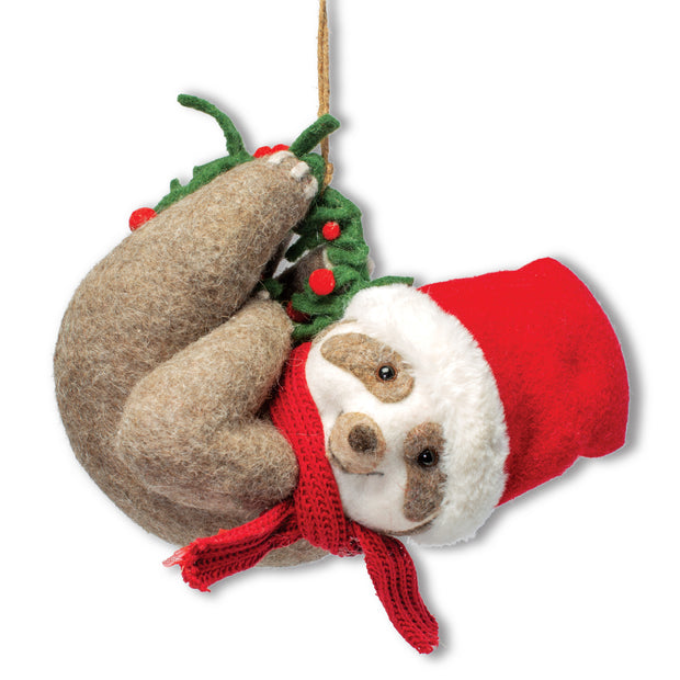 Hanging Christmas Sloth
