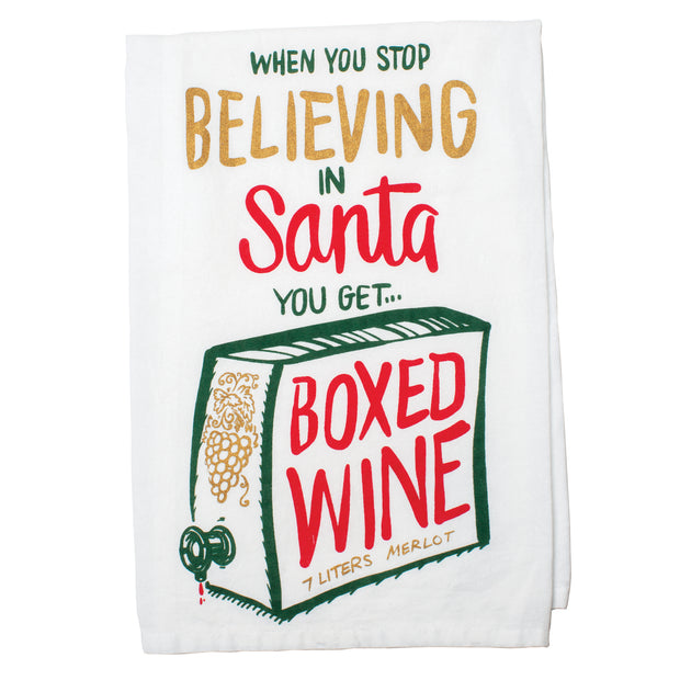 Boxed Wine Tea Towel