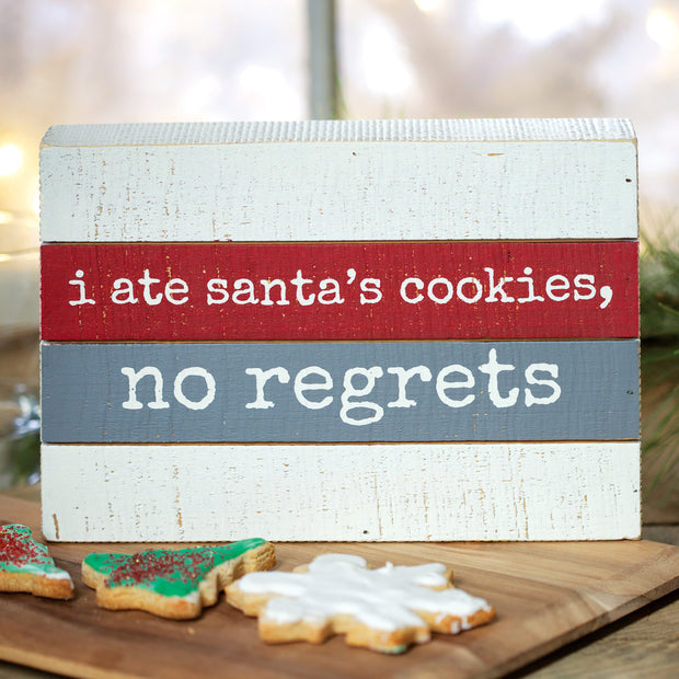 Santa's Cookies Box Sign