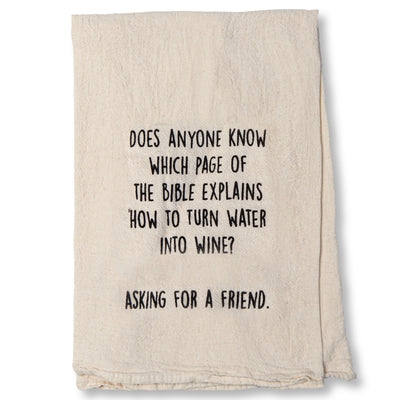 Asking for a Friend Dish Towel