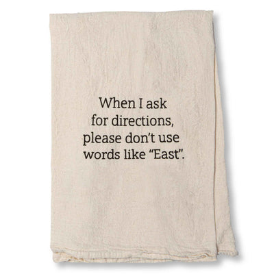Ask for Directions Dish Towel