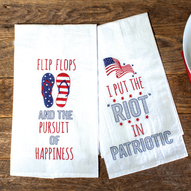 Riot in Patriotic Towel