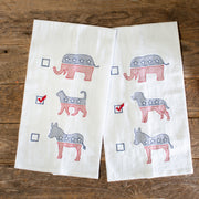 Cat Political Party Tea Towel