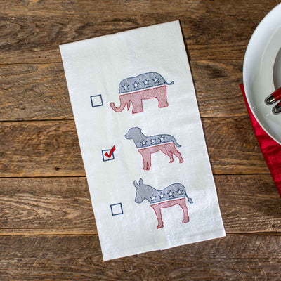 Dog Political Party Tea Towel