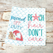 Mermaid Off Duty Towel