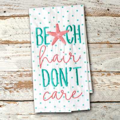 Beach Hair Don't Care Kitchen Towel