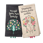Happiness Blooms Dish Towel